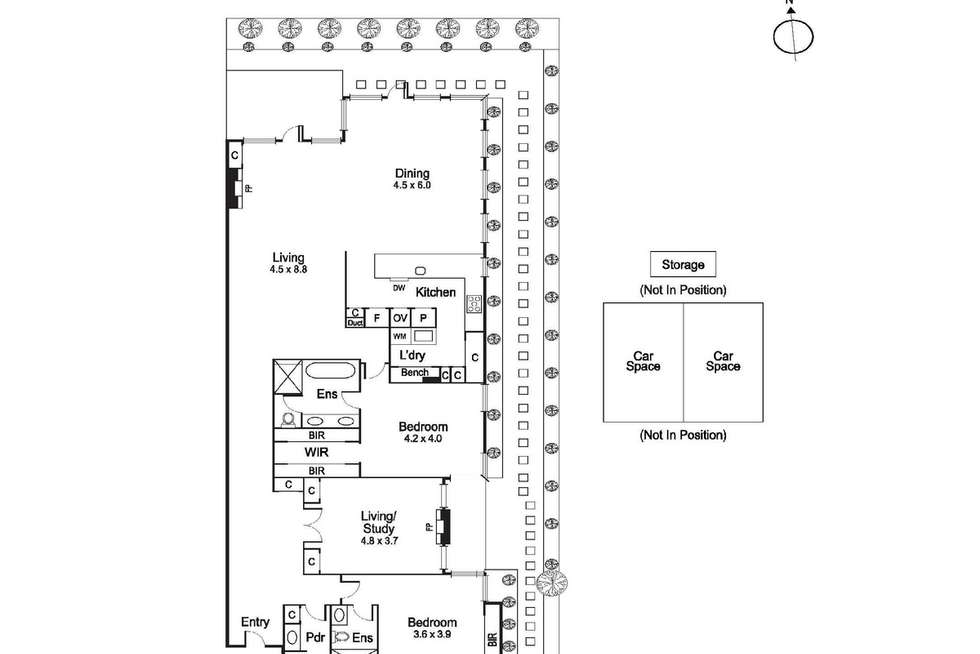 Floorplan of Homely apartment listing, 1/547 Toorak Road, Toorak VIC 3142