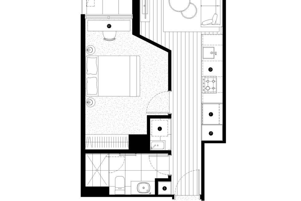 Floorplan of Homely apartment listing, 403/11-15 Brunswick Road, Brunswick East VIC 3057