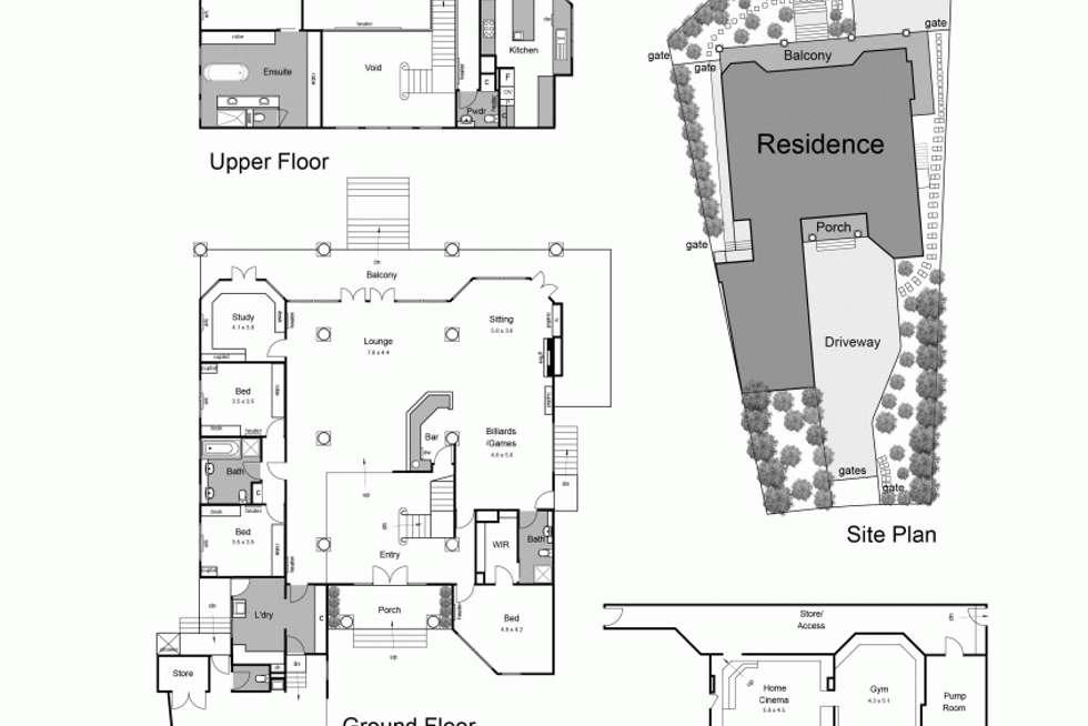 Floorplan of Homely house listing, 49 Rosserdale Crescent, Mount Eliza VIC 3930