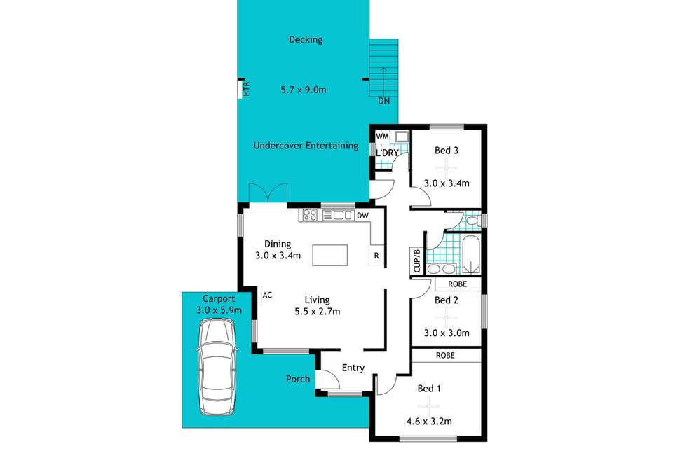 Floorplan of Homely house listing, 61 Eyre Street, Seaview Downs SA 5049