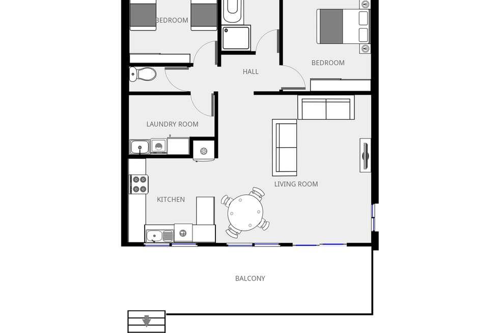Floorplan of Homely unit listing, 7/55 Ocean Drive, Merimbula NSW 2548