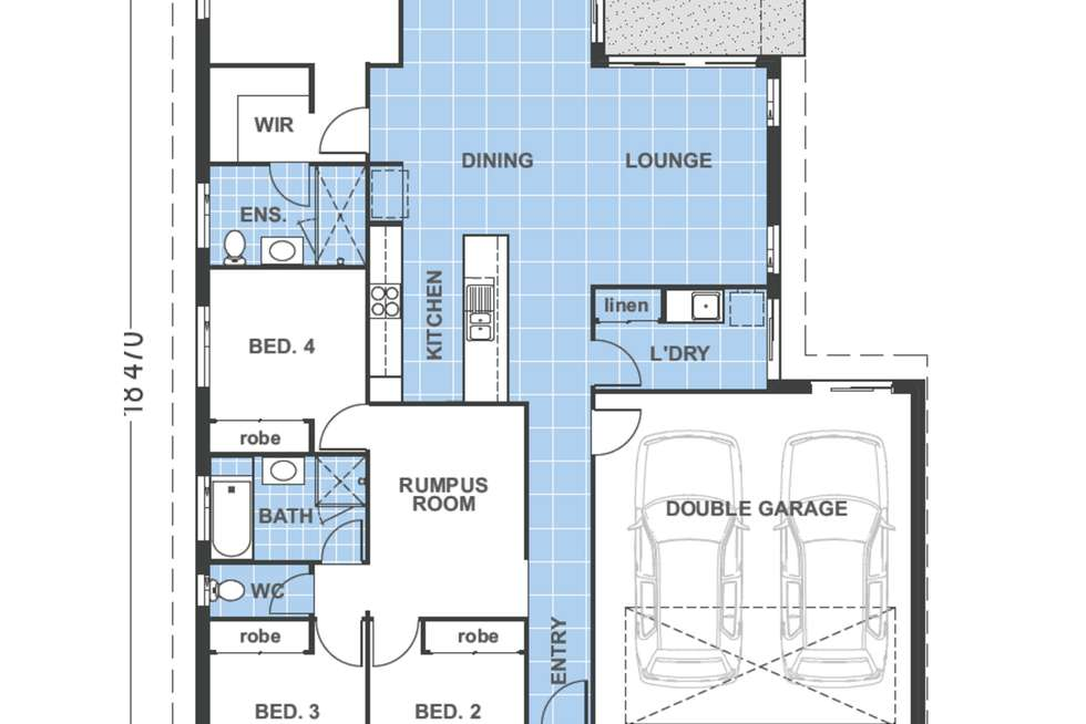Floorplan of Homely house listing, 20 Butterfly Way, Ripley QLD 4306