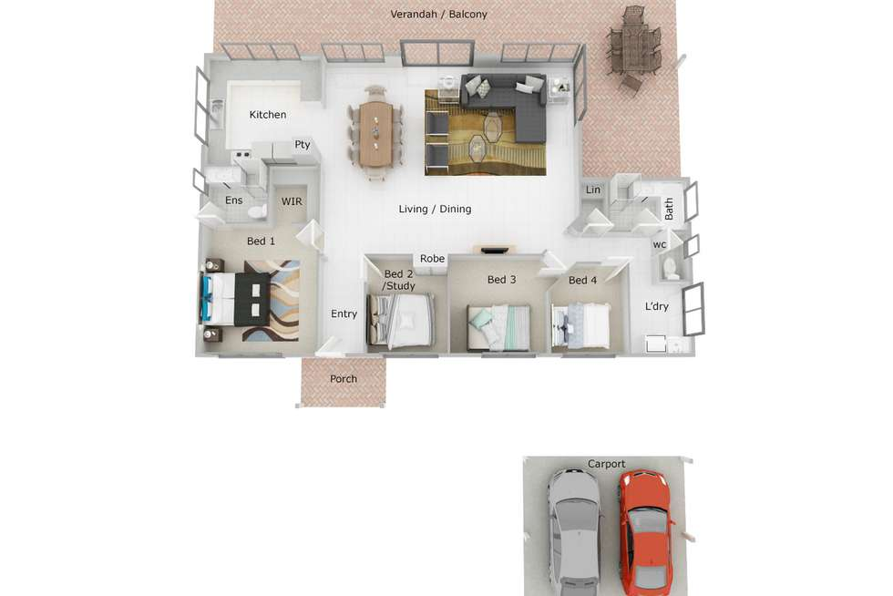 Floorplan of Homely house listing, 38 Talus Drive, Mount Richon WA 6112