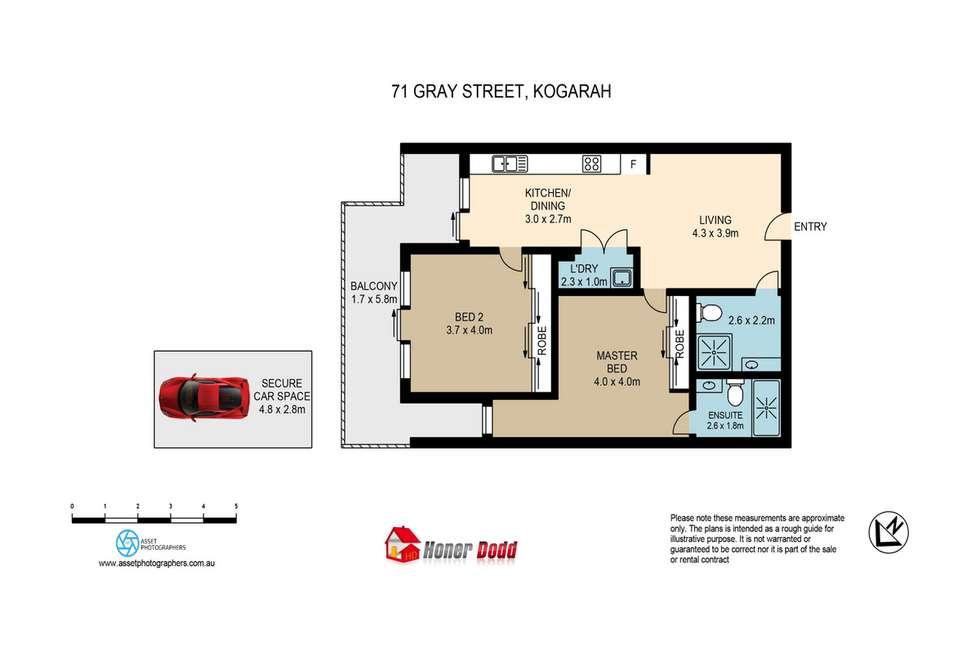 Floorplan of Homely unit listing, 71 Gray Street, Kogarah NSW 2217