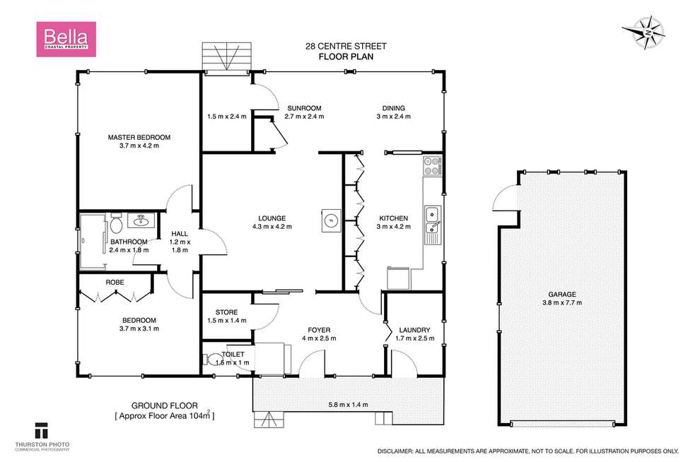 Floorplan of Homely house listing, 28 Centre Street, Lake Tabourie NSW 2539