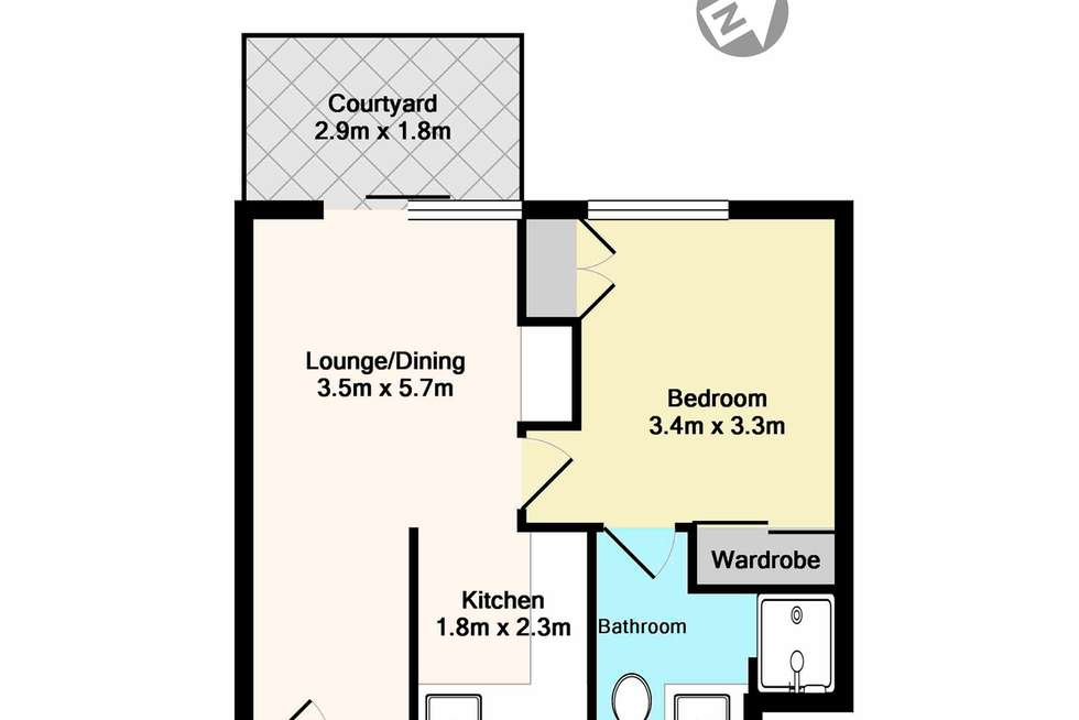 Floorplan of Homely servicedApartment listing, 140/2 Kitchener Road, Cherrybrook NSW 2126