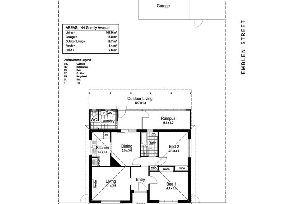 Floorplan of Homely house listing, 44 Gormly Avenue, Wagga Wagga NSW 2650