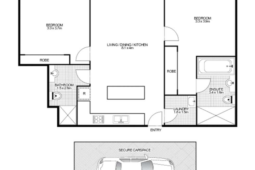 Floorplan of Homely apartment listing, 43/4-10 Benedict Court, Holroyd NSW 2142