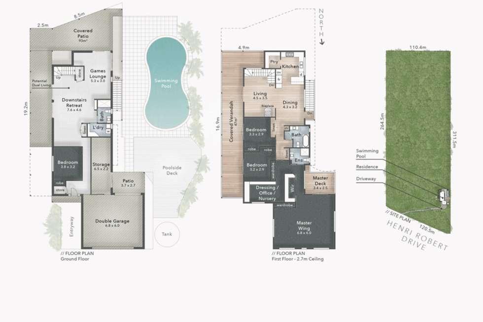 Floorplan of Homely house listing, 119 Henri Robert Drive, Clagiraba QLD 4211