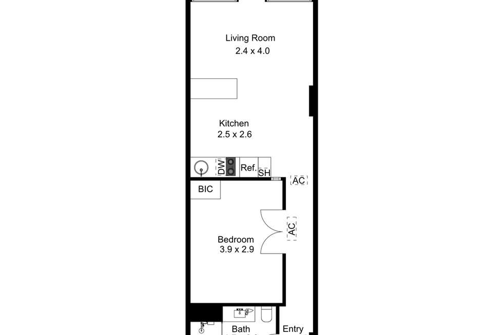 Floorplan of Homely apartment listing, 410/61 Hindmarsh Square, Adelaide SA 5000
