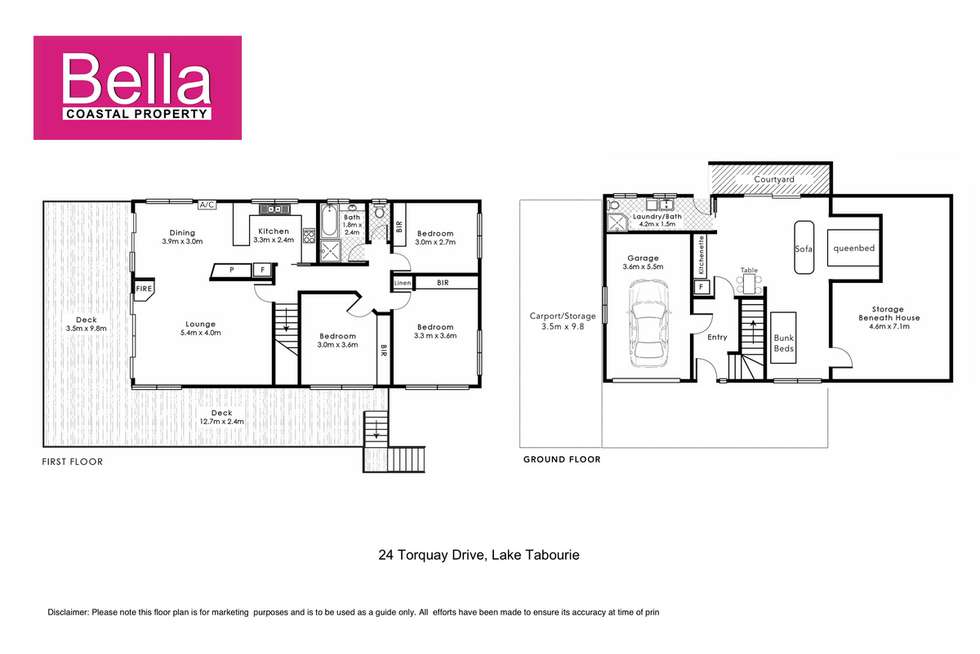Floorplan of Homely house listing, 24 Torquay Drive, Lake Tabourie NSW 2539