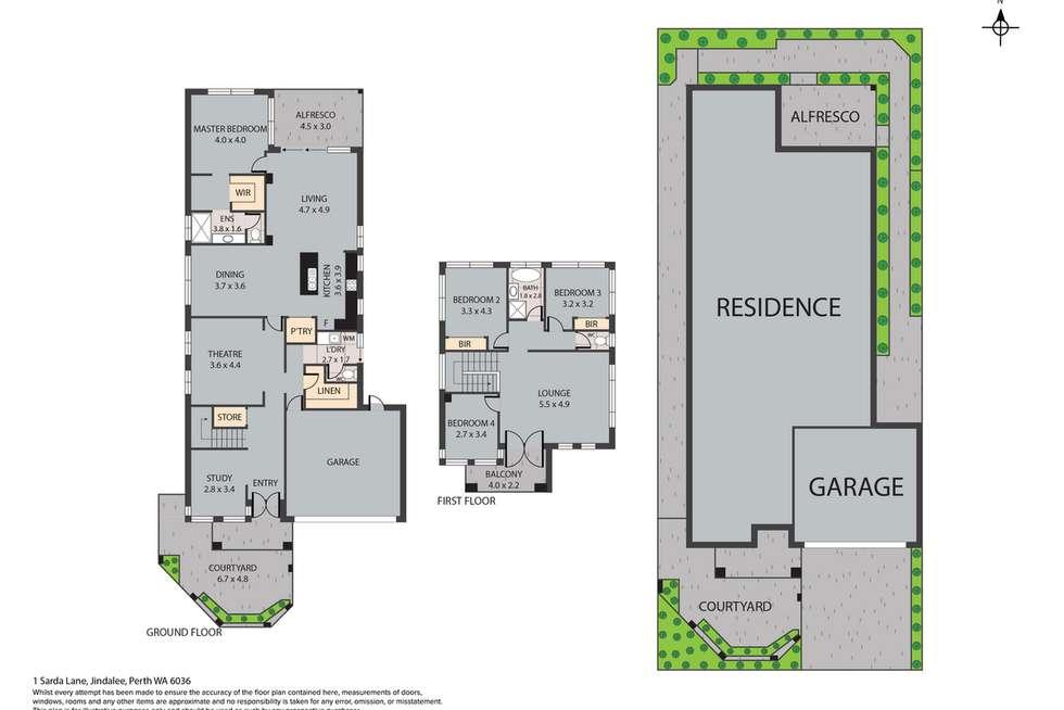 Floorplan of Homely house listing, 1 Sarda Lane, Jindalee WA 6036