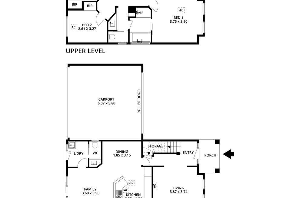 Floorplan of Homely townhouse listing, 6/1653 Golden Grove Road, Greenwith SA 5125