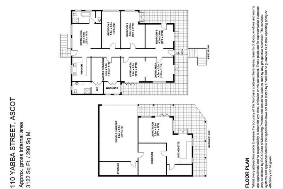 Floorplan of Homely house listing, 110 Yabba Street, Ascot QLD 4007