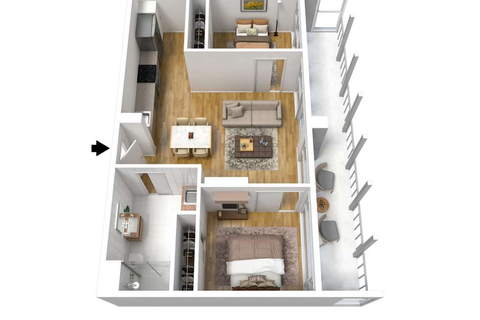 Floorplan of Homely apartment listing, 215/33 Warwick Street, Walkerville SA 5081