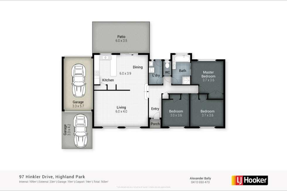 Floorplan of Homely house listing, 97 Hinkler Drive, Highland Park QLD 4211