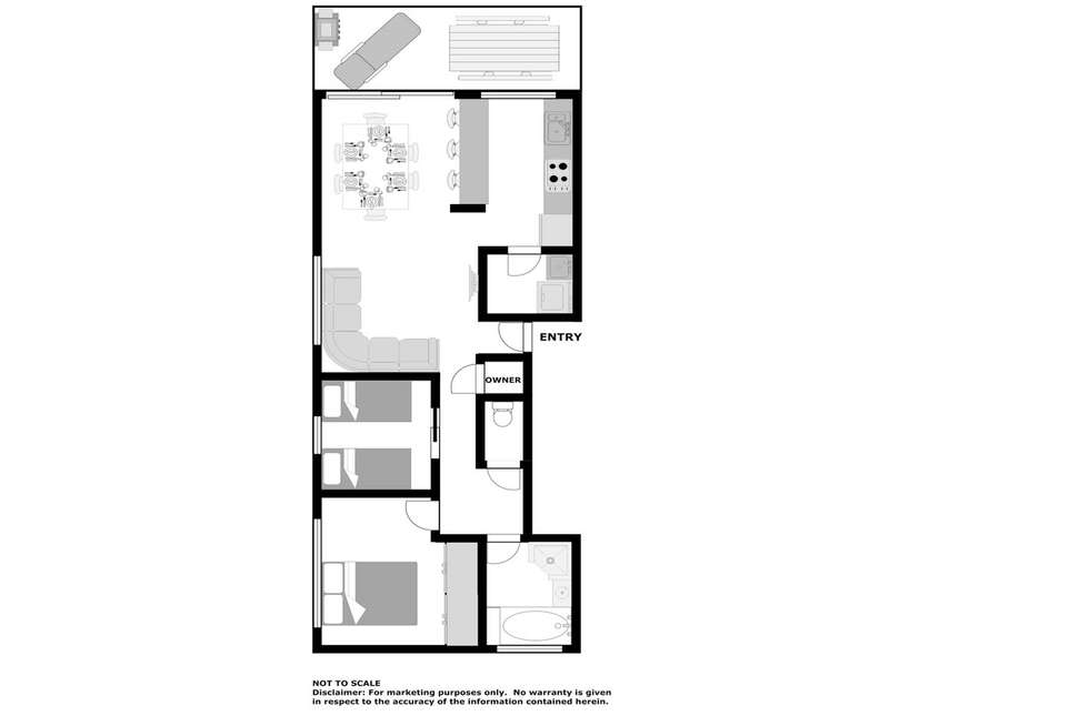 Floorplan of Homely apartment listing, 5/33 Soldiers Point Road, Soldiers Point NSW 2317