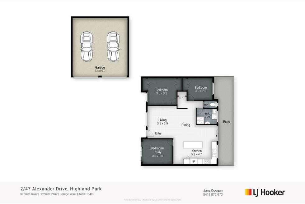 Floorplan of Homely semiDetached listing, 2/47 Alexander Drive, Highland Park QLD 4211