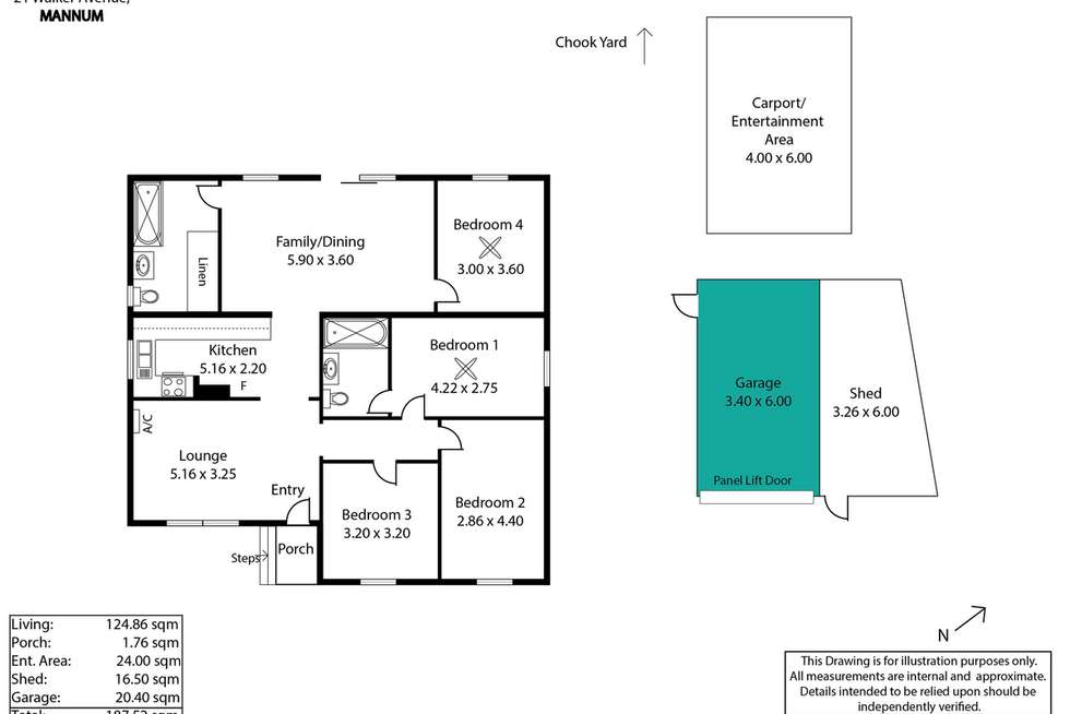 Floorplan of Homely house listing, 21 Walker Avenue, Mannum SA 5238