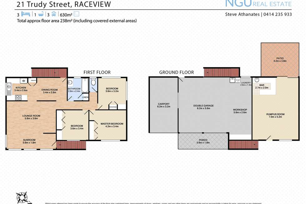 Floorplan of Homely house listing, 21 Trudy Street, Raceview QLD 4305