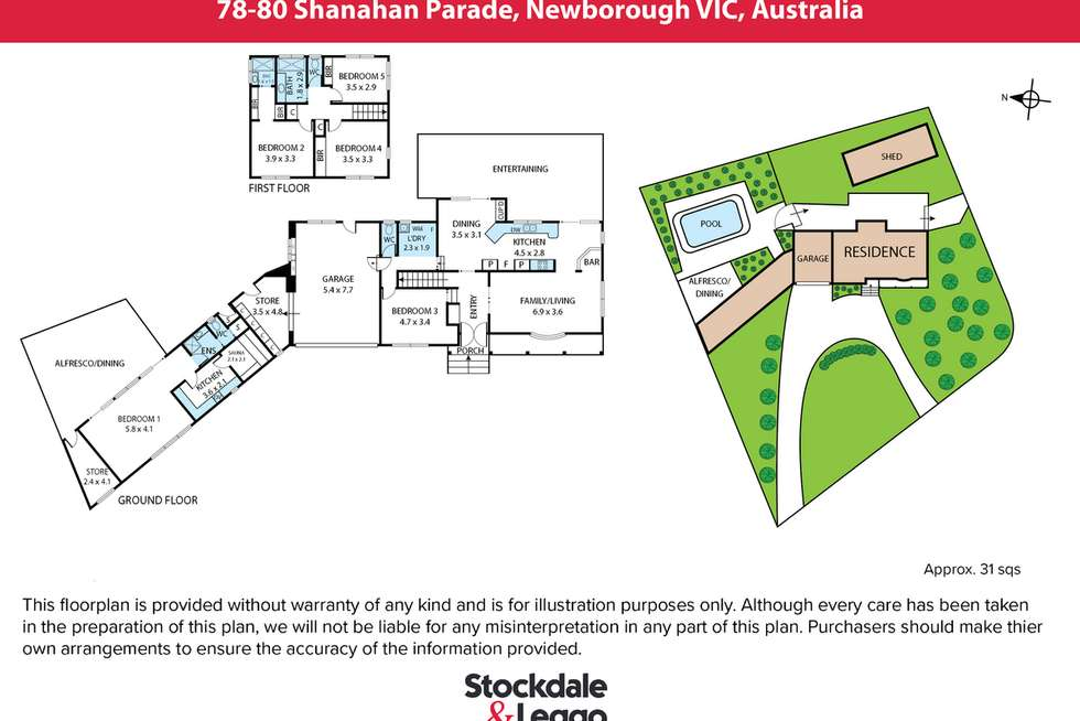 Floorplan of Homely house listing, 78-80 Shanahan Parade, Newborough VIC 3825
