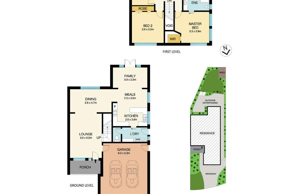 Floorplan of Homely semiDetached listing, 8 Patu Place, Cherrybrook NSW 2126