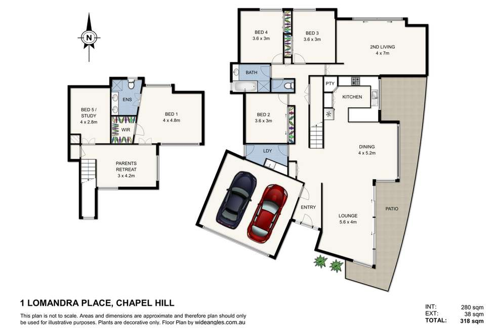 Floorplan of Homely house listing, 1 Lomandra Place, Chapel Hill QLD 4069