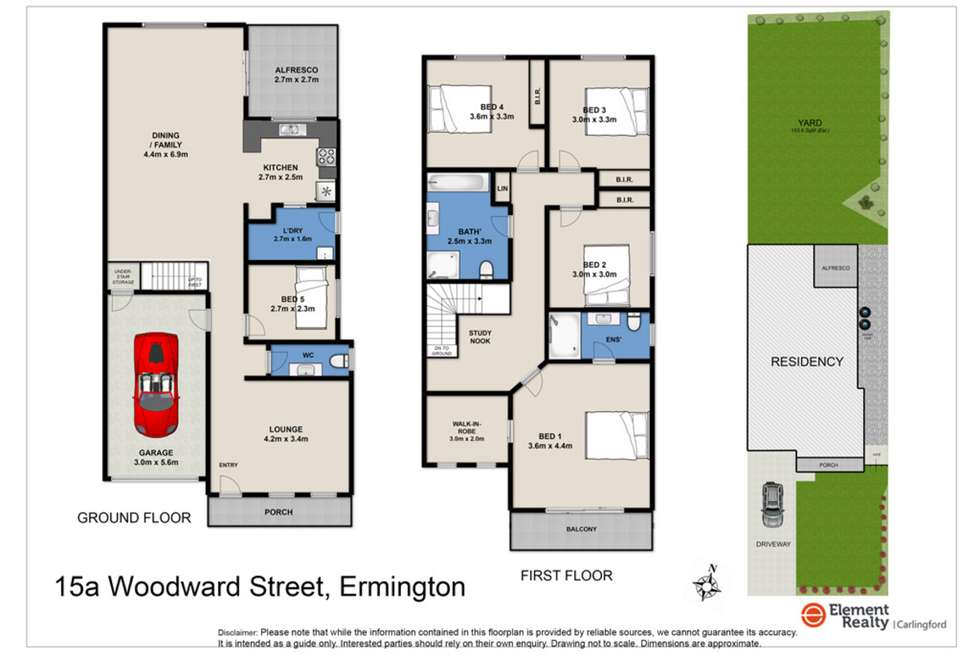 Floorplan of Homely semiDetached listing, 15 Woodward Street, Ermington NSW 2115