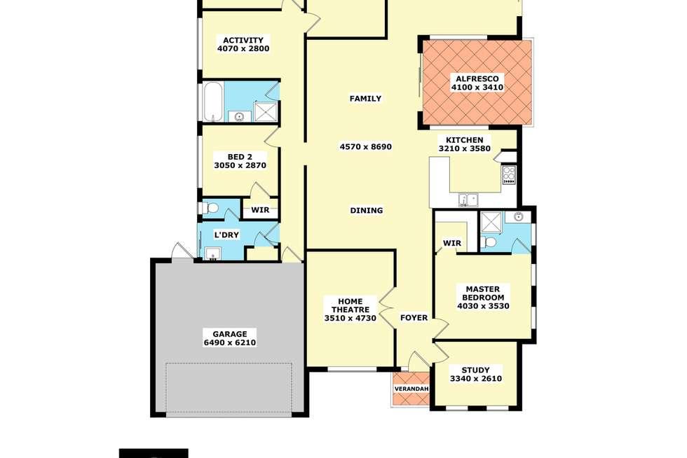 Floorplan of Homely house listing, 11 Hayes Court, Ravenswood WA 6208