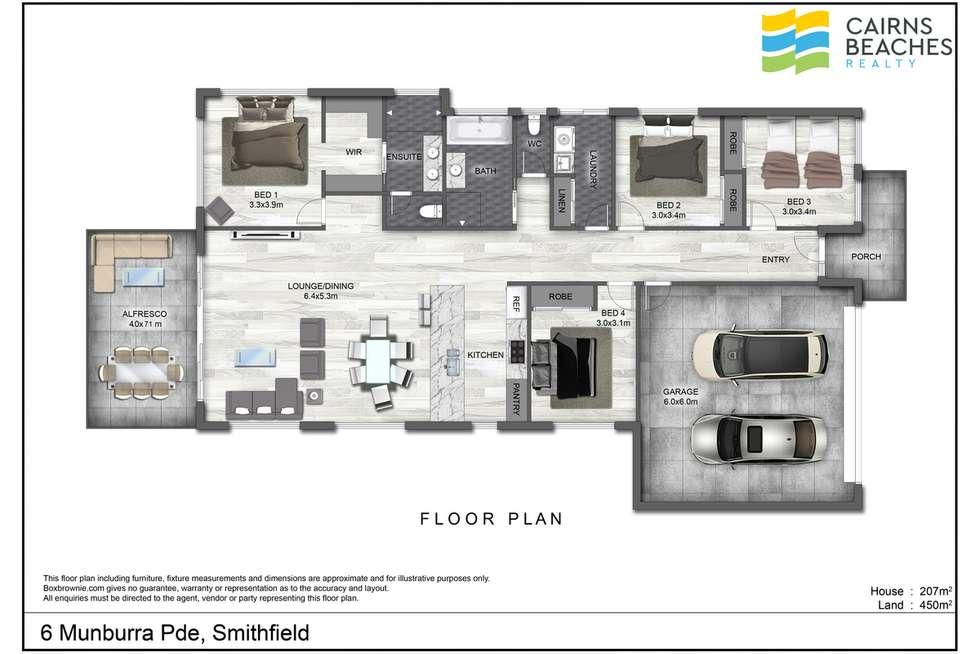 Floorplan of Homely house listing, 6 Munburra Parade, Smithfield QLD 4878