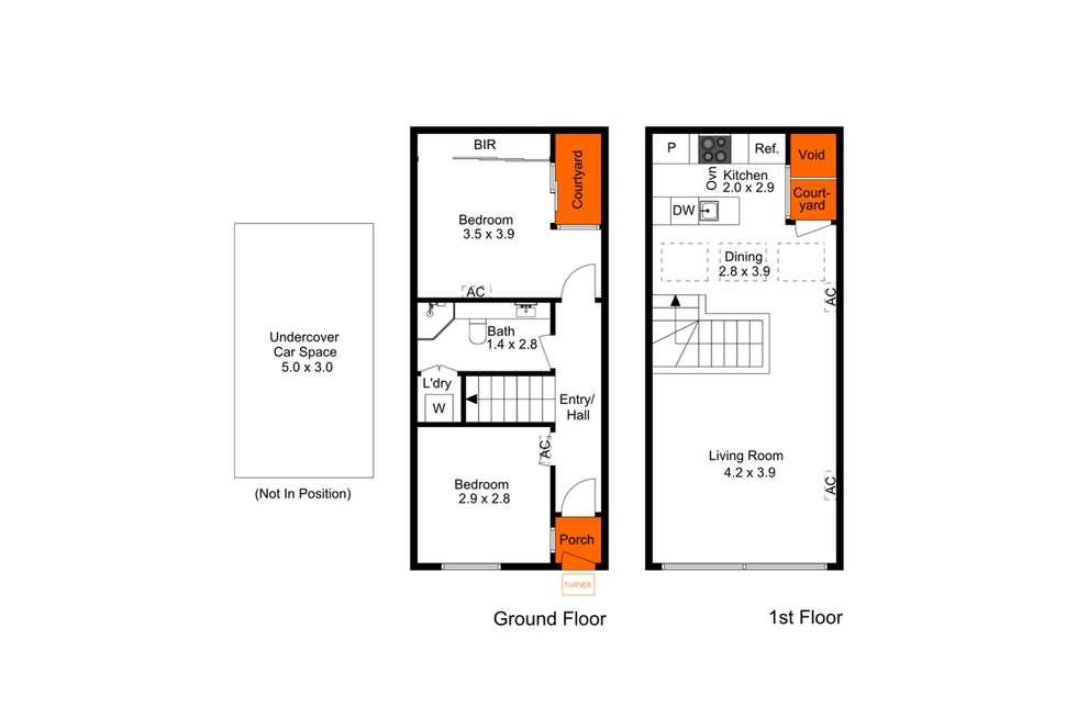 Floorplan of Homely townhouse listing, 8/31 Halifax Street, Adelaide SA 5000