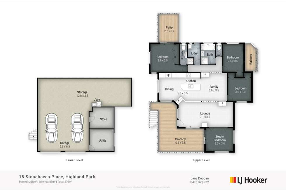 Floorplan of Homely house listing, 18 Stonehaven Place, Highland Park QLD 4211