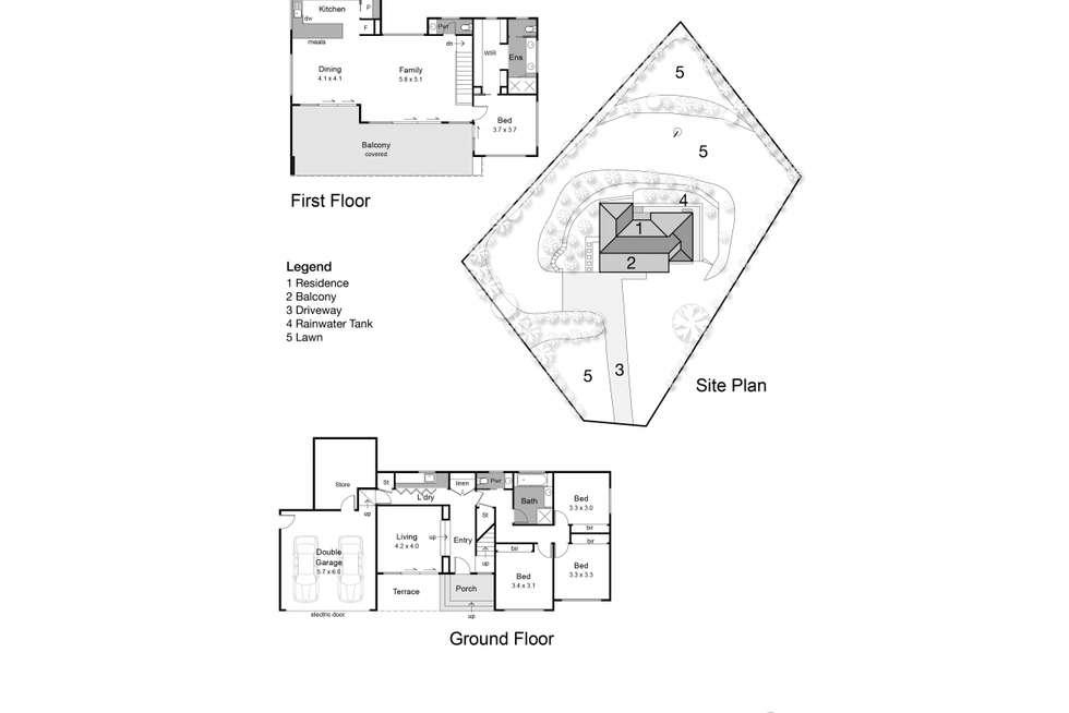 Floorplan of Homely house listing, 4 Carool Court, Mount Martha VIC 3934