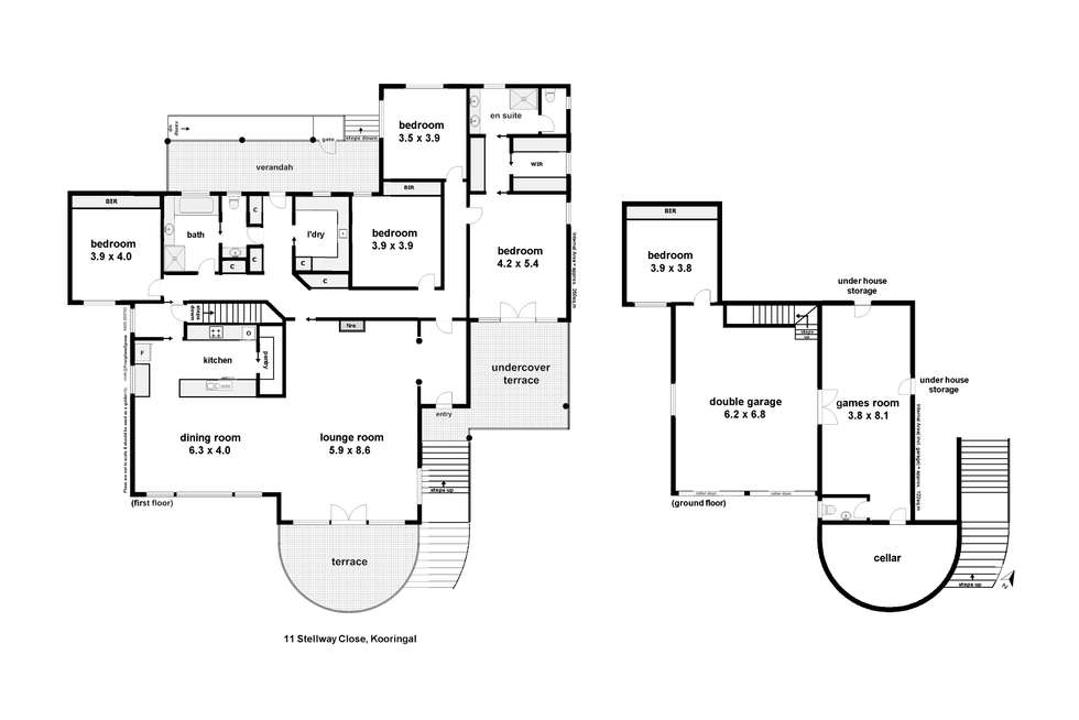 Floorplan of Homely house listing, 11 Stellway Close, Kooringal NSW 2650