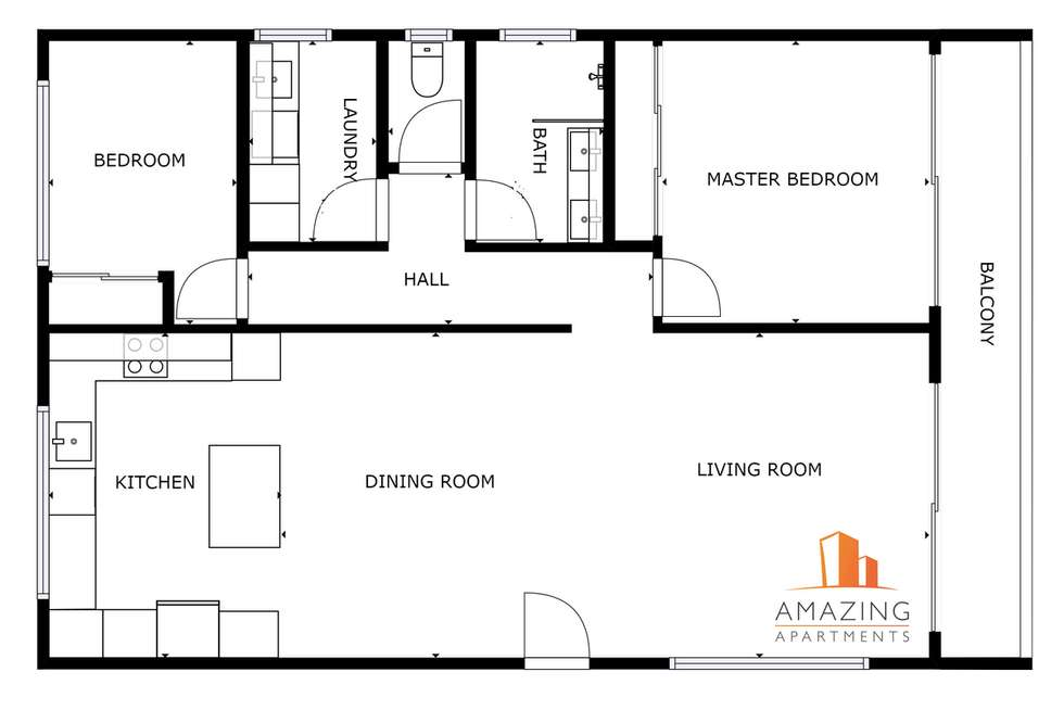 Floorplan of Homely apartment listing, 34 Park Avenue, East Brisbane QLD 4169