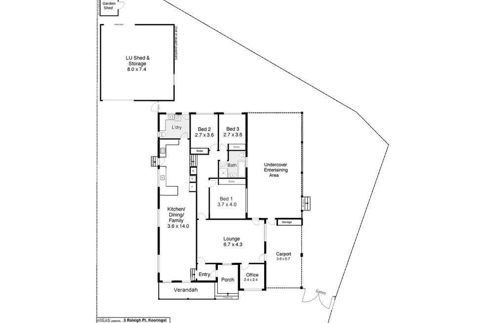 Floorplan of Homely house listing, 3 Raleigh Place, Kooringal NSW 2650