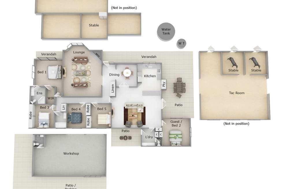 Floorplan of Homely house listing, 9 Wallangarra Drive, Bedfordale WA 6112