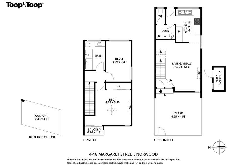 Floorplan of Homely townhouse listing, 4/18 Margaret Street, Norwood SA 5067