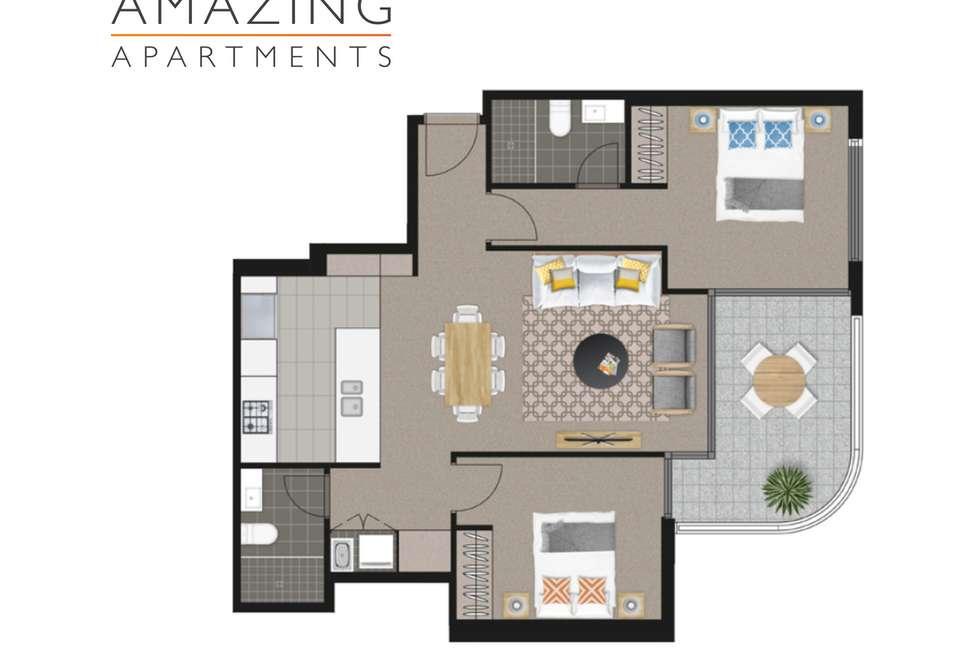 Floorplan of Homely apartment listing, 58 Hope Street, South Brisbane QLD 4101