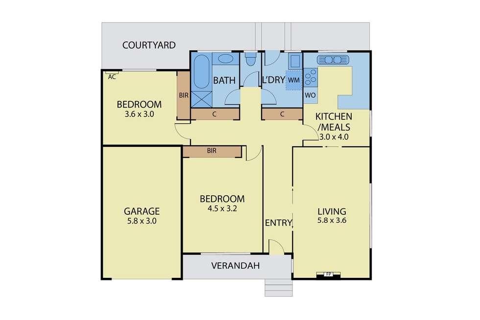 Floorplan of Homely unit listing, 4/4 Ash Grove, Malvern East VIC 3145