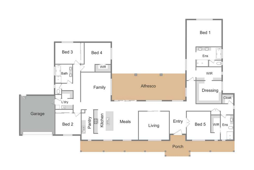 Floorplan of Homely house listing, 2 Lomandra Way, Mansfield VIC 3722