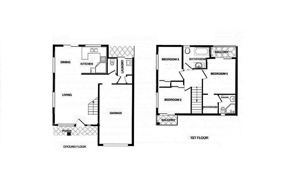 Floorplan of Homely townhouse listing, 38/134 Hill Road, Runcorn QLD 4113