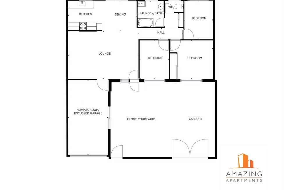 Floorplan of Homely townhouse listing, 165/11 West Dianne Street, Lawnton QLD 4501