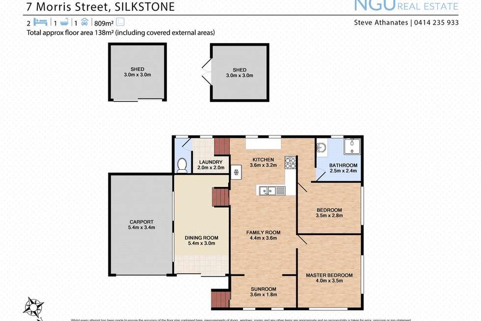 Floorplan of Homely house listing, 7 Morris Street, Silkstone QLD 4304