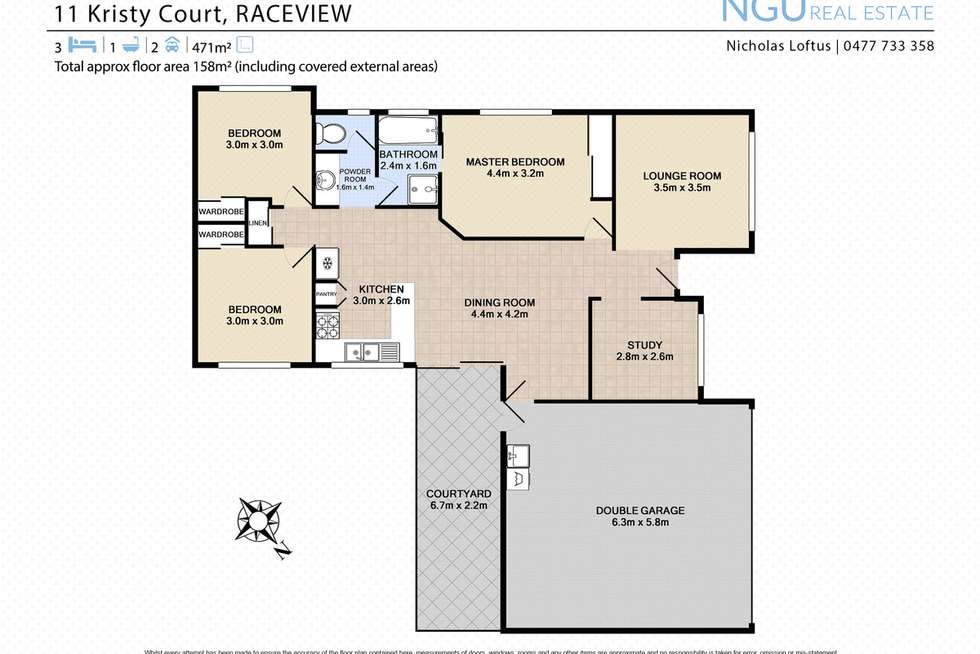 Floorplan of Homely house listing, 11 Kristy Court, Raceview QLD 4305