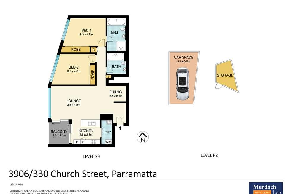 Floorplan of Homely unit listing, 3906/330 Church Street, Parramatta NSW 2150