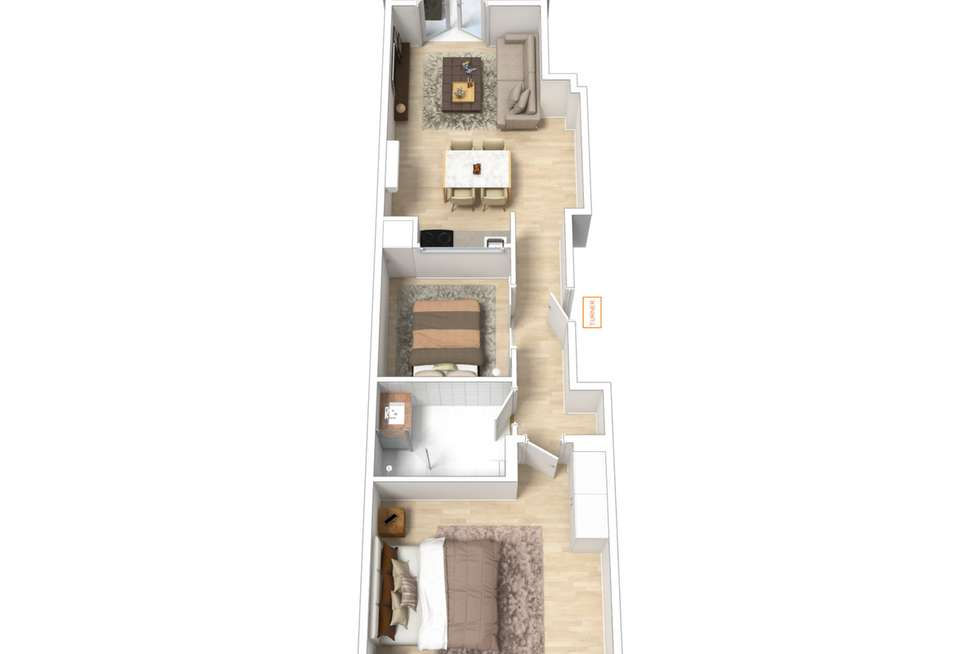 Floorplan of Homely apartment listing, 106/88 Frome Street, Adelaide SA 5000