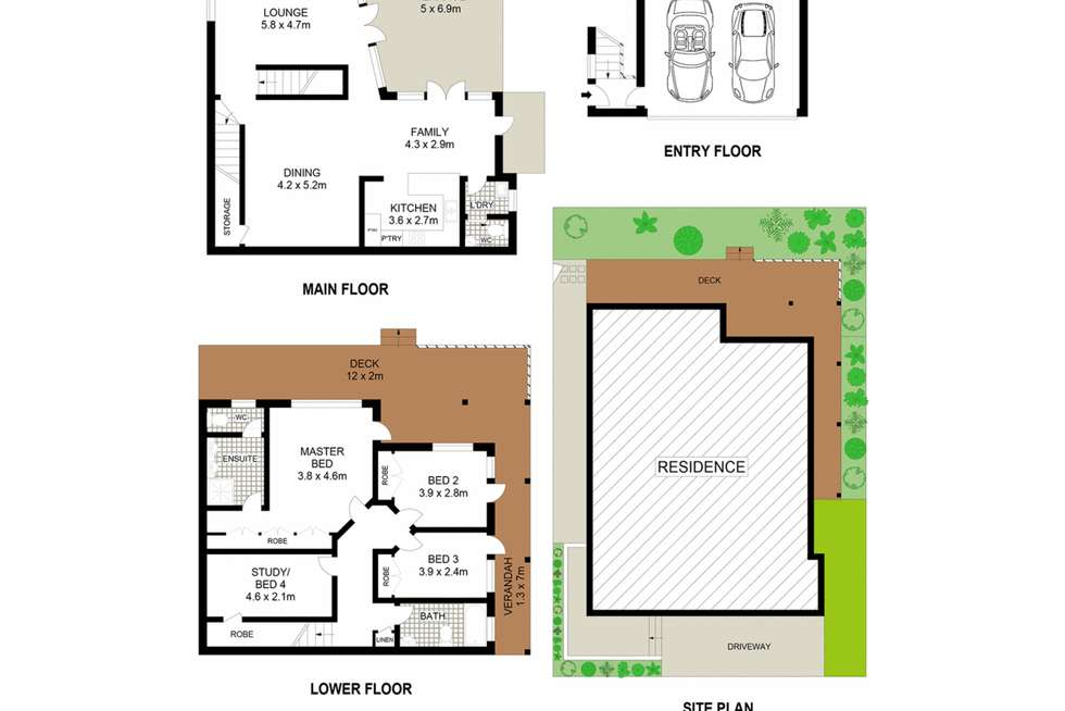 Floorplan of Homely house listing, 50A Central Avenue, Mosman NSW 2088