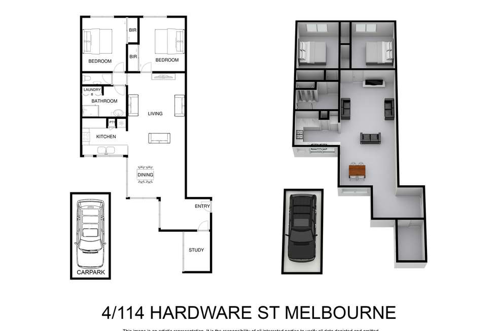 Floorplan of Homely apartment listing, 4/114 Hardware Street, Melbourne VIC 3000