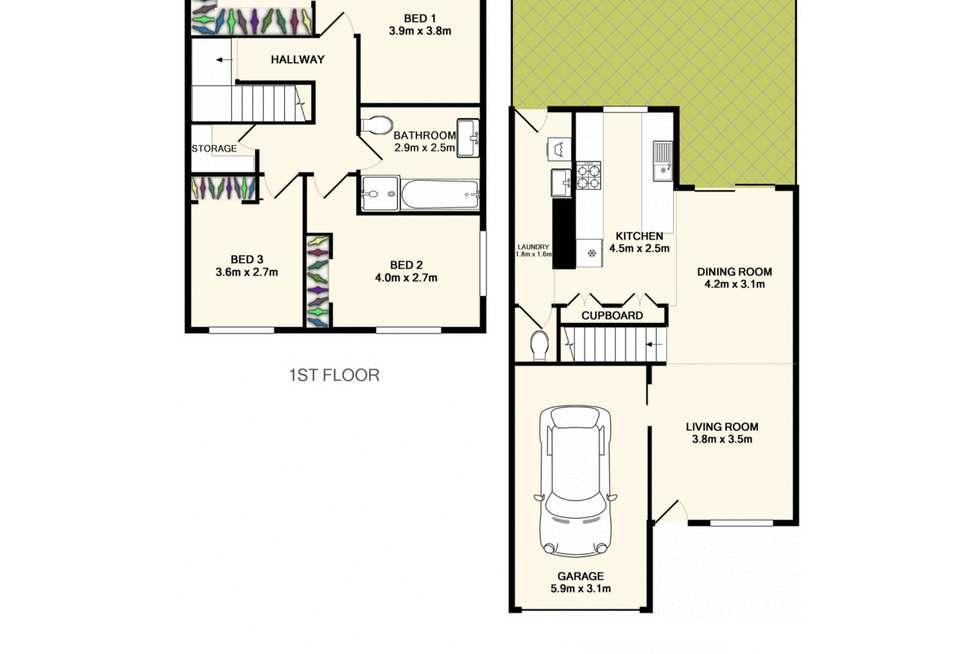 Floorplan of Homely townhouse listing, 6/26 Joyce Street, Burpengary QLD 4505